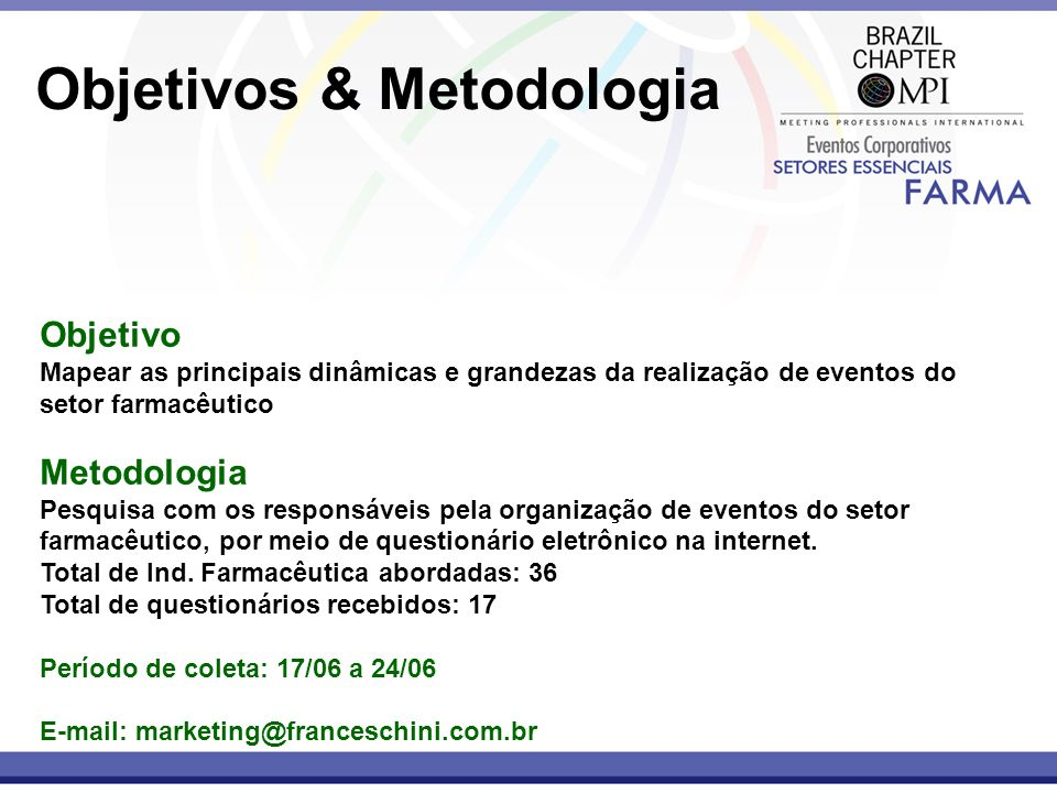 Objetivos & Metodologia