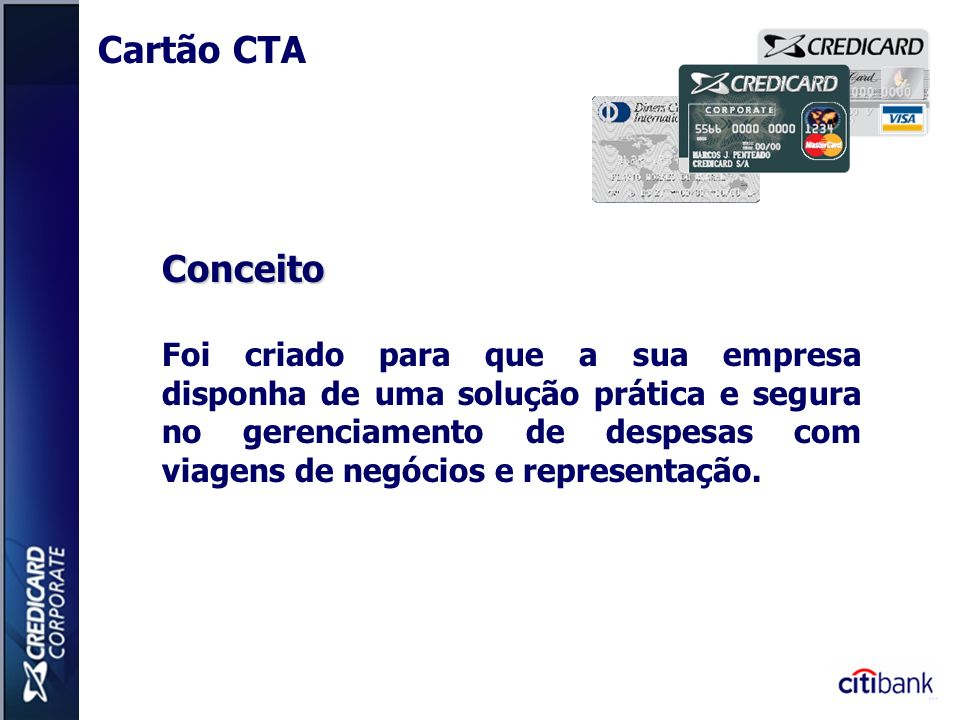 Cartão CTA Conceito.