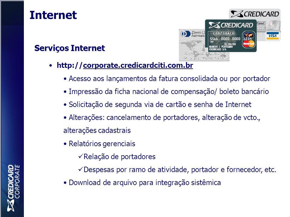 Internet Serviços Internet http://corporate.credicardciti.com.br