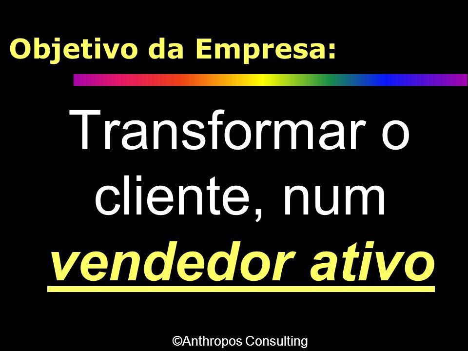 Transformar o cliente, num vendedor ativo