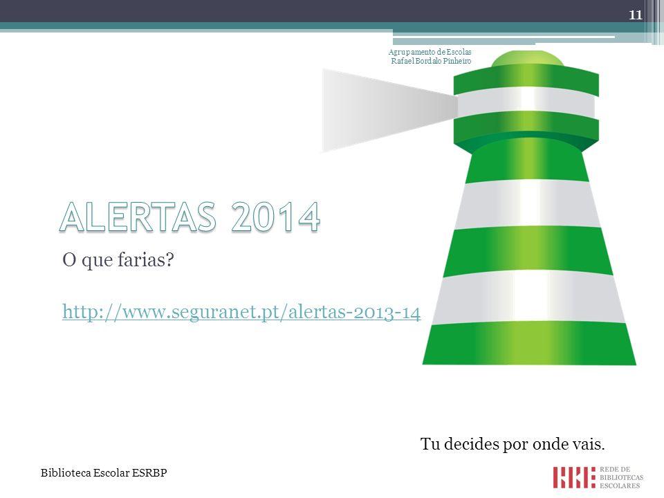 ALERTAS 2014 O que farias http://www.seguranet.pt/alertas-2013-14