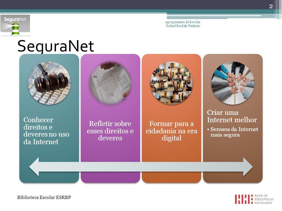 SeguraNet Conhecer direitos e deveres no uso da Internet
