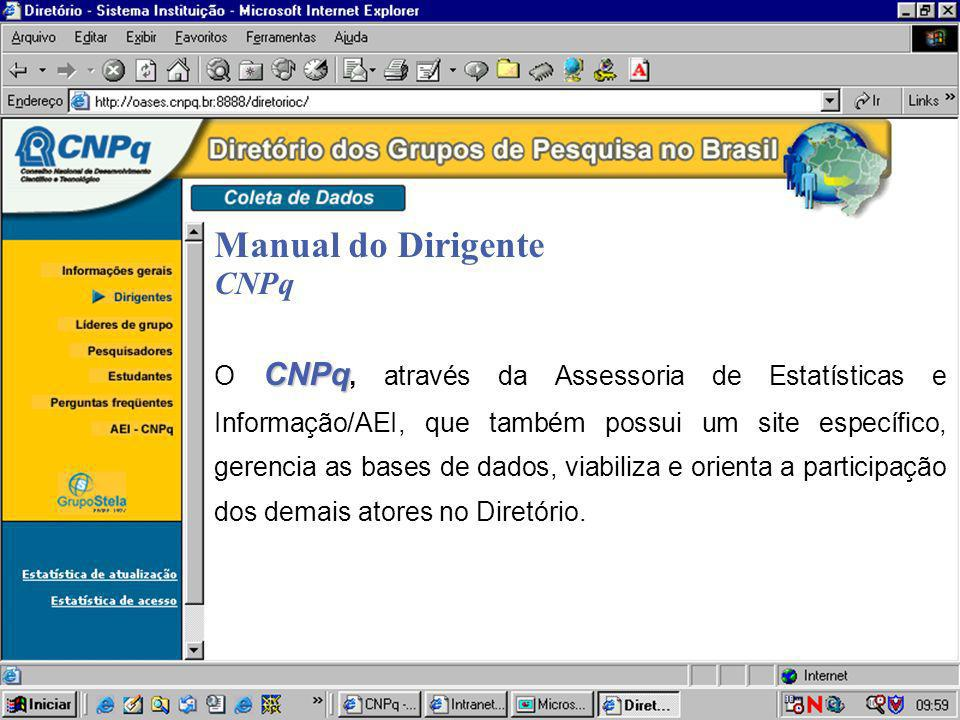 Manual do Dirigente CNPq