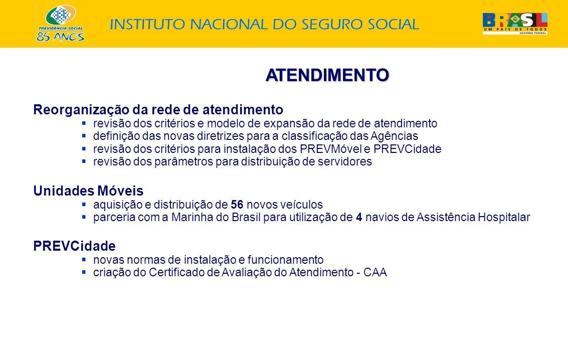 ATENDIMENTO Reorganização da rede de atendimento Unidades Móveis