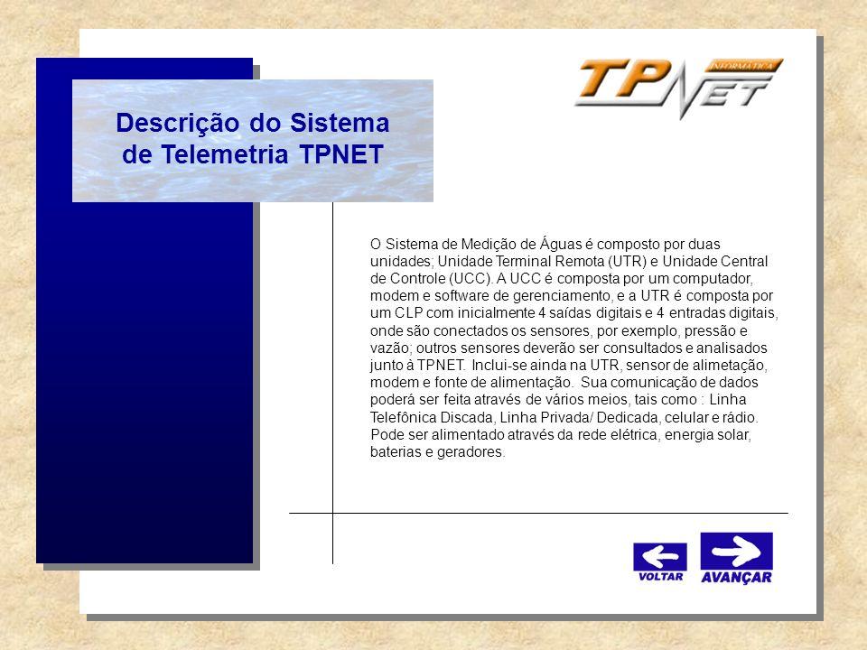 Descrição do Sistema de Telemetria TPNET