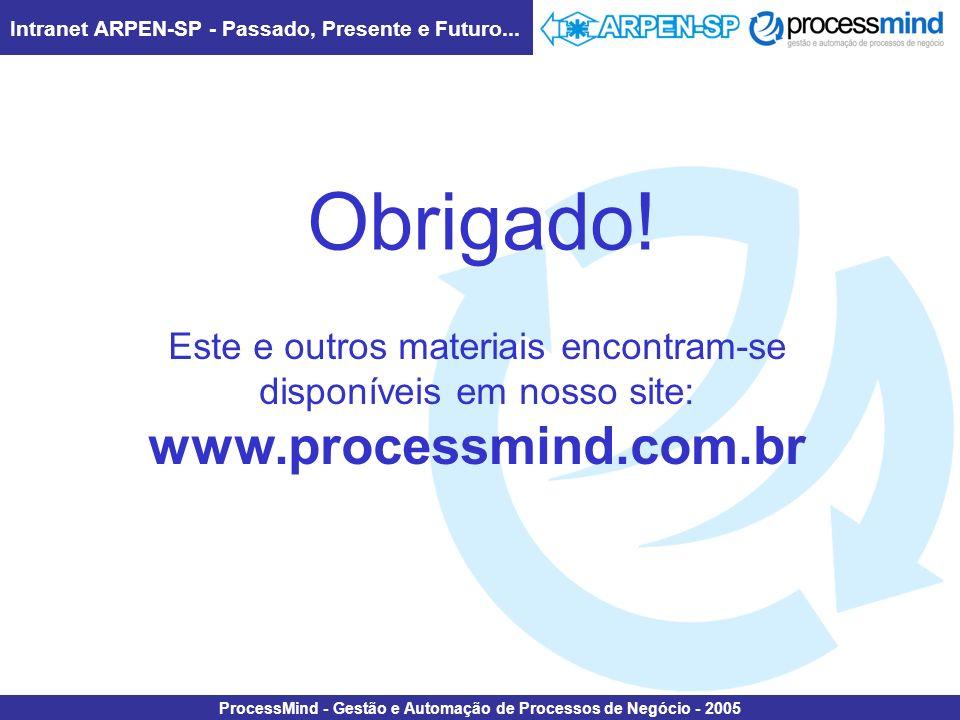 Obrigado! www.processmind.com.br Este e outros materiais encontram-se
