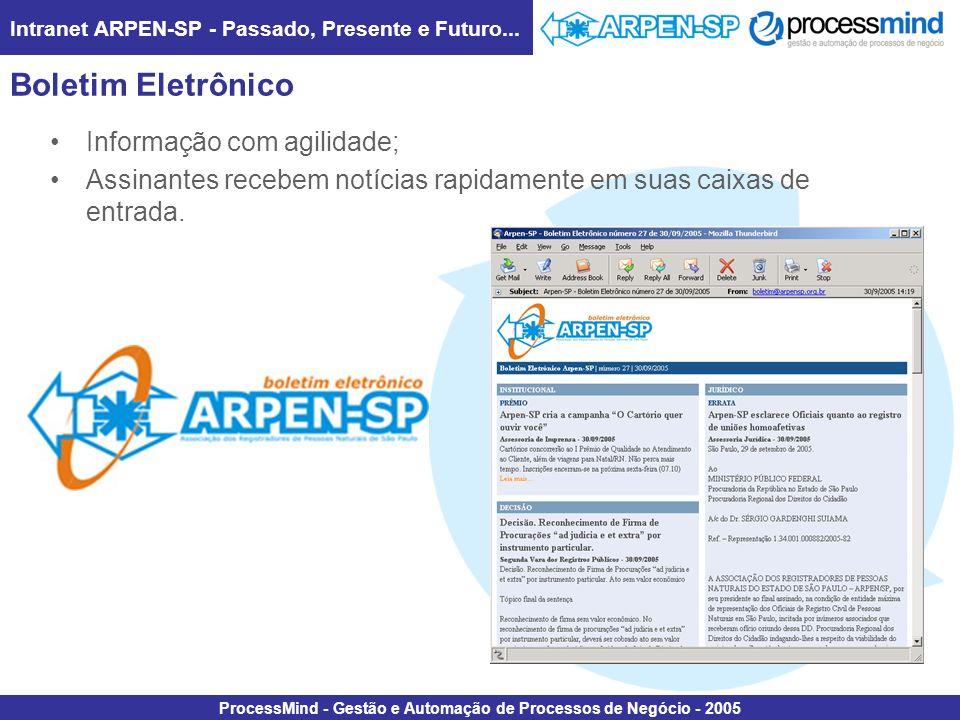 Boletim Eletrônico Informação com agilidade;