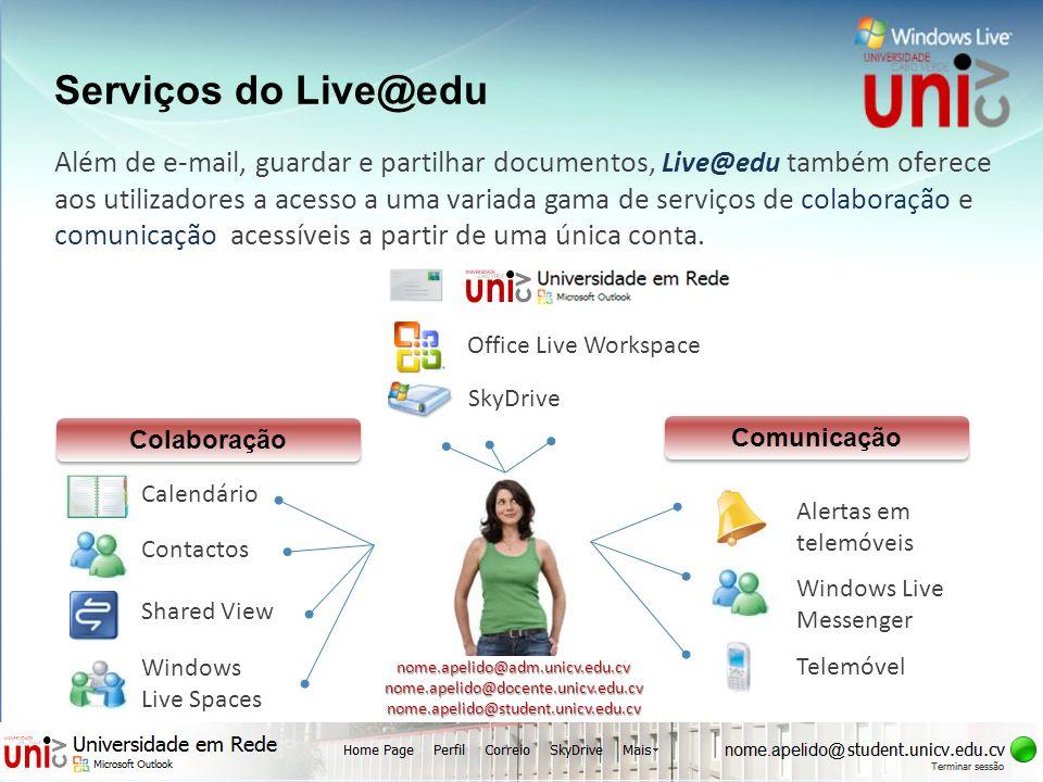 UNIVERSIDADE cv CABO VERDE uni Serviços do Live@edu
