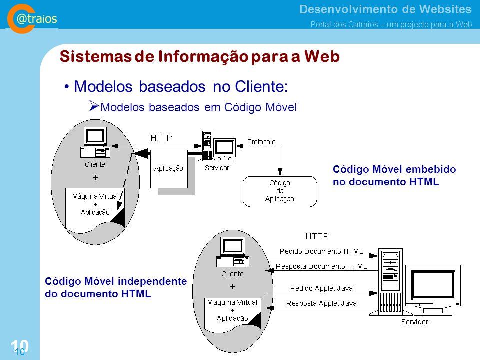 Sistemas de Informação para a Web