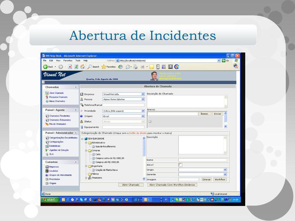 Abertura de Incidentes