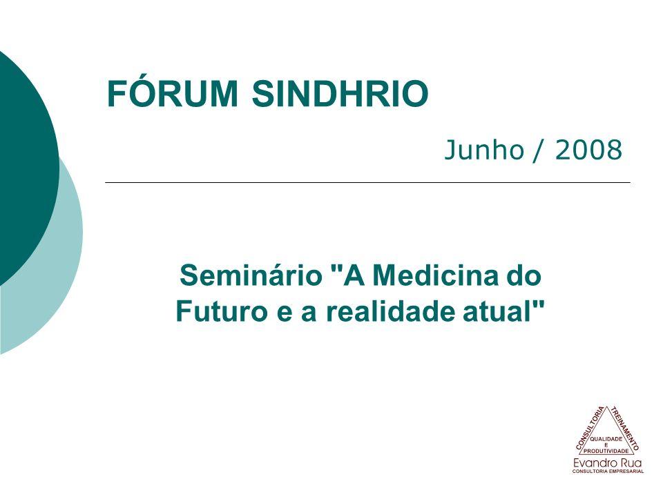 Seminário A Medicina do Futuro e a realidade atual