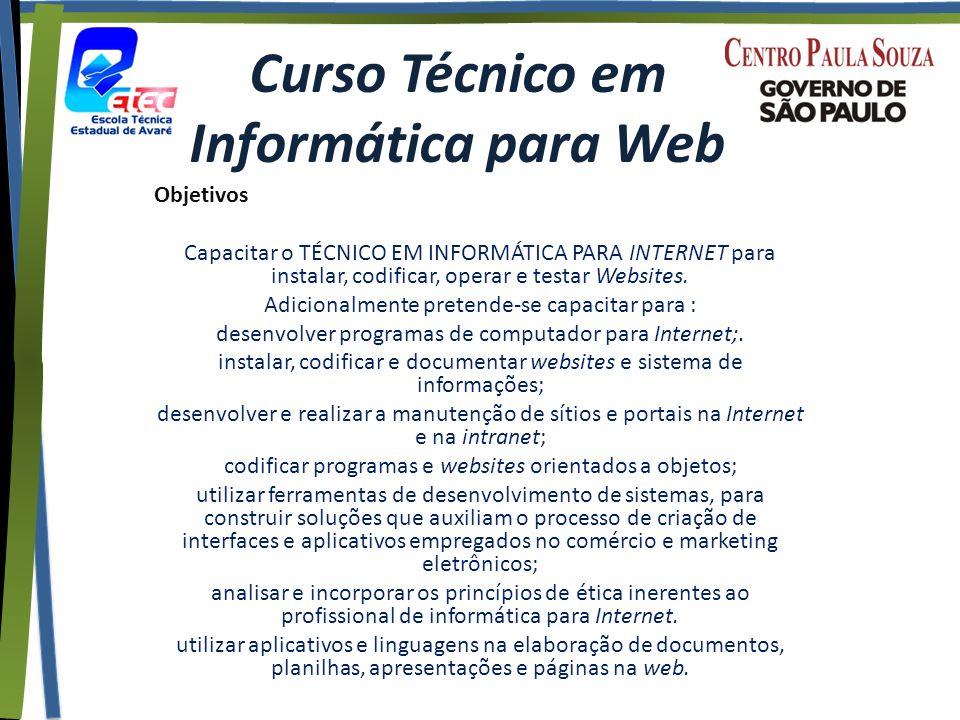 Curso Técnico em Informática para Web