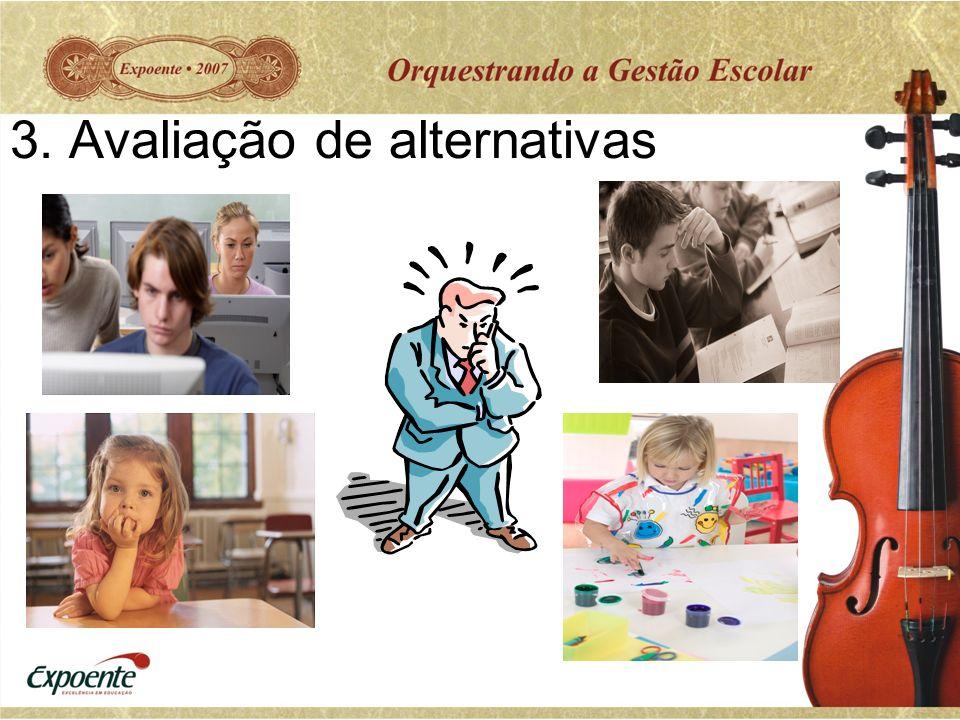 3. Avaliação de alternativas