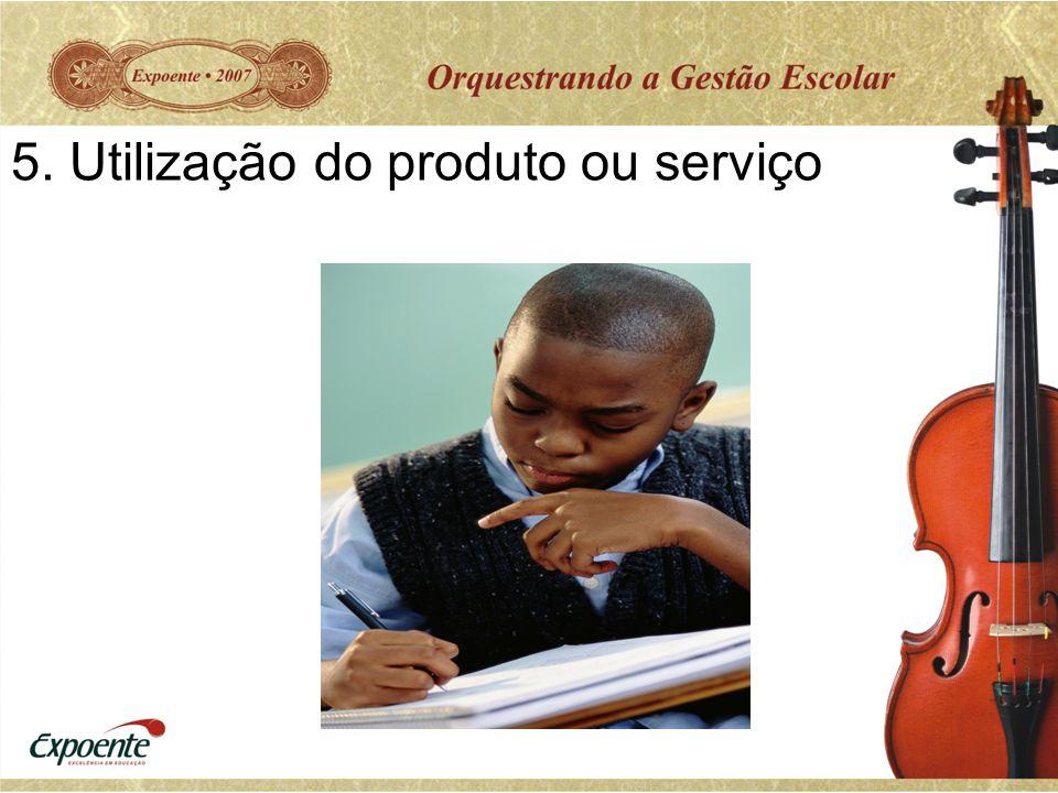 5. Utilização do produto ou serviço