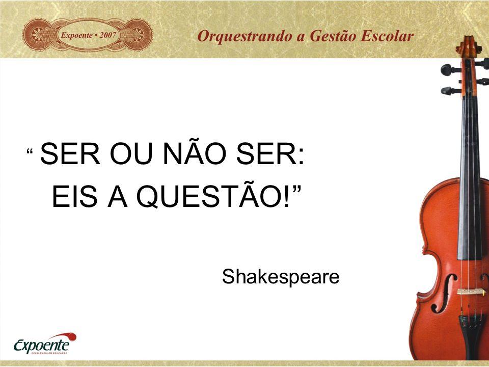 SER OU NÃO SER: EIS A QUESTÃO! Shakespeare