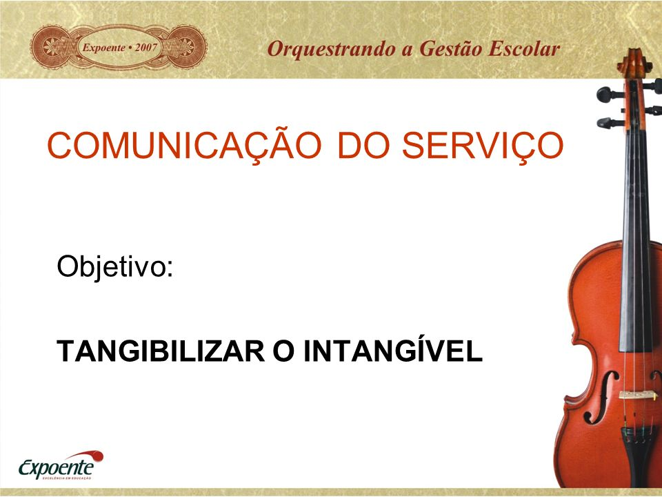 COMUNICAÇÃO DO SERVIÇO