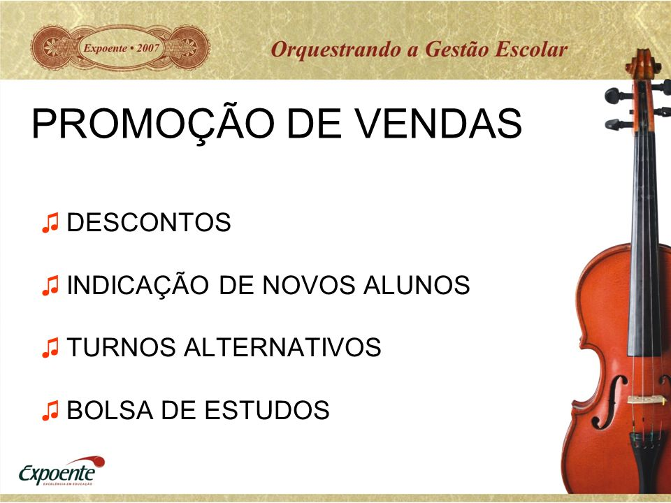 PROMOÇÃO DE VENDAS DESCONTOS INDICAÇÃO DE NOVOS ALUNOS
