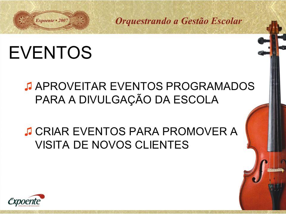 EVENTOS APROVEITAR EVENTOS PROGRAMADOS PARA A DIVULGAÇÃO DA ESCOLA