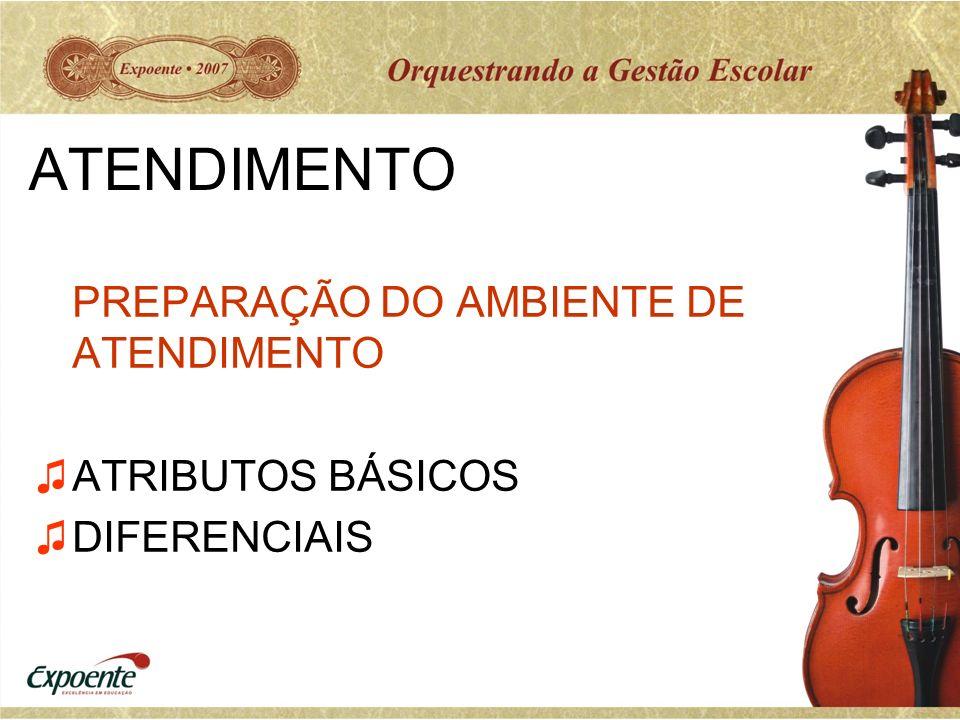 ATENDIMENTO PREPARAÇÃO DO AMBIENTE DE ATENDIMENTO ATRIBUTOS BÁSICOS