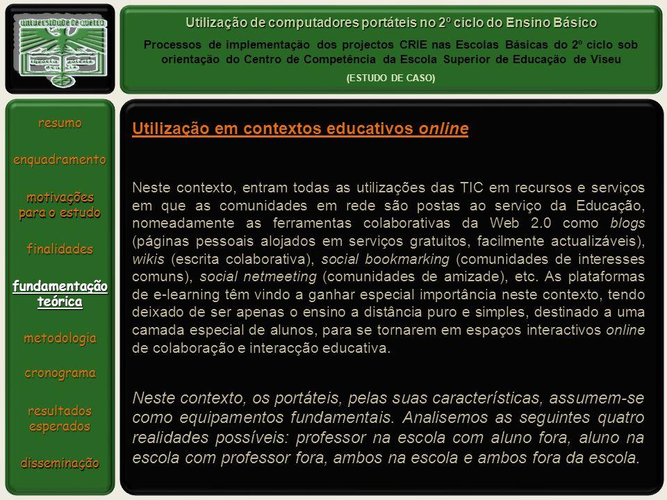 Utilização de computadores portáteis no 2º ciclo do Ensino Básico