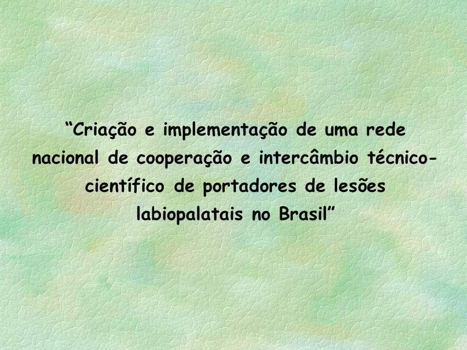 Criação e implementação de uma rede nacional de cooperação e intercâmbio técnico-científico de portadores de lesões labiopalatais no Brasil