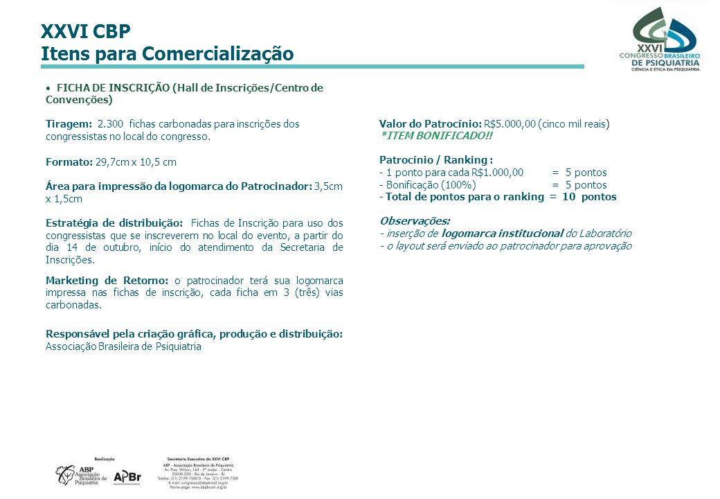 FICHA DE INSCRIÇÃO (Hall de Inscrições/Centro de Convenções)