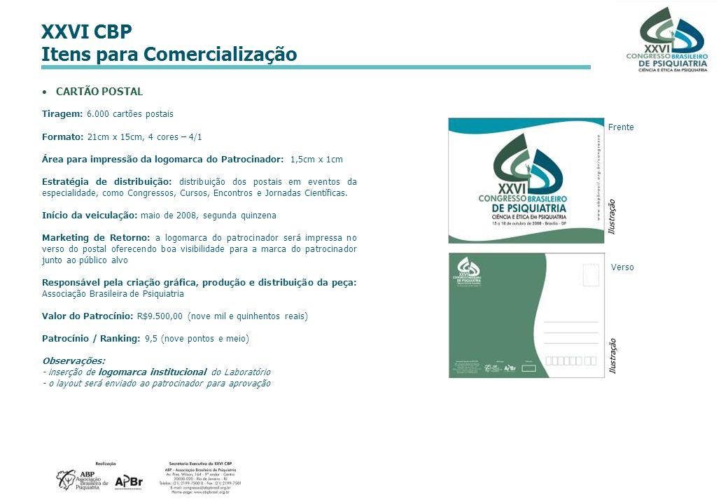CARTÃO POSTAL Tiragem: 6.000 cartões postais