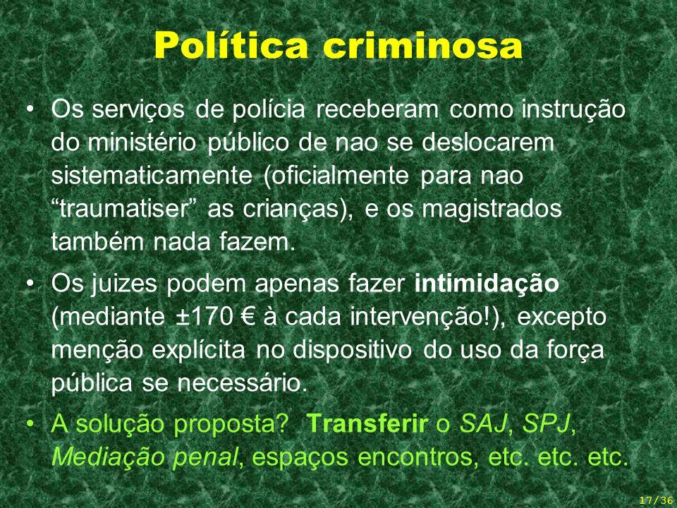 Política criminosa