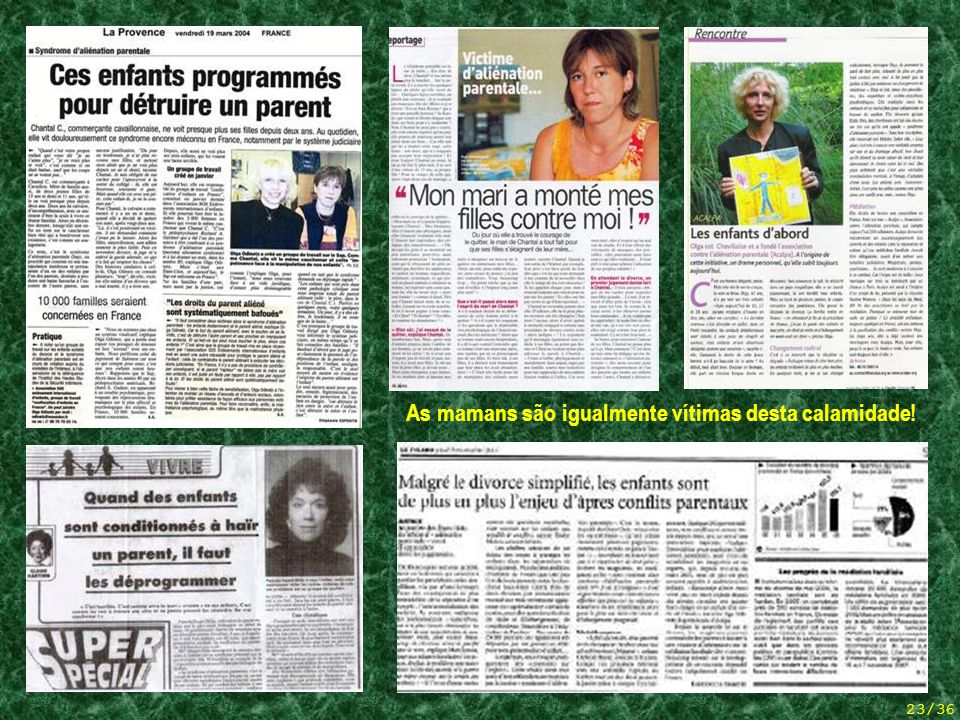 5 articles de presse (mamans)