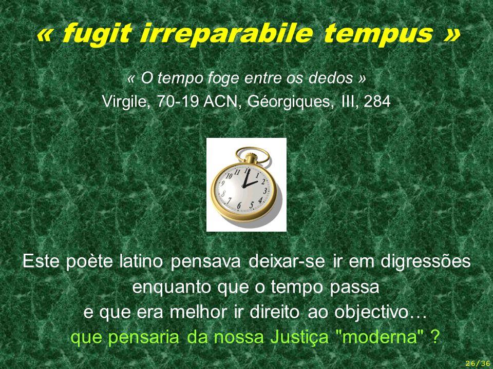 « fugit irreparabile tempus »