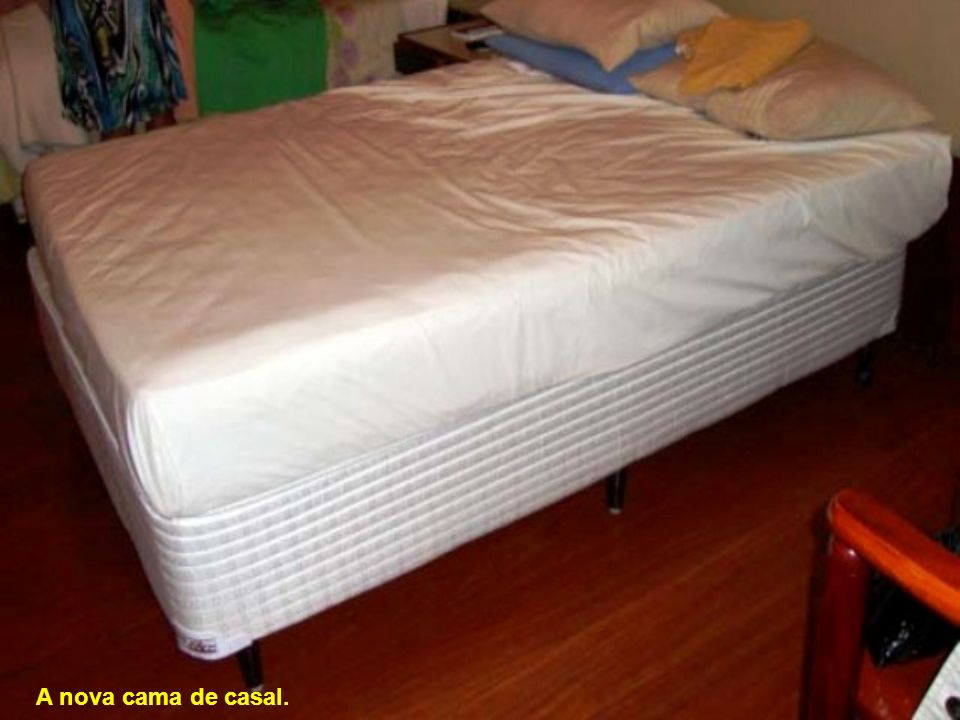 A nova cama de casal.