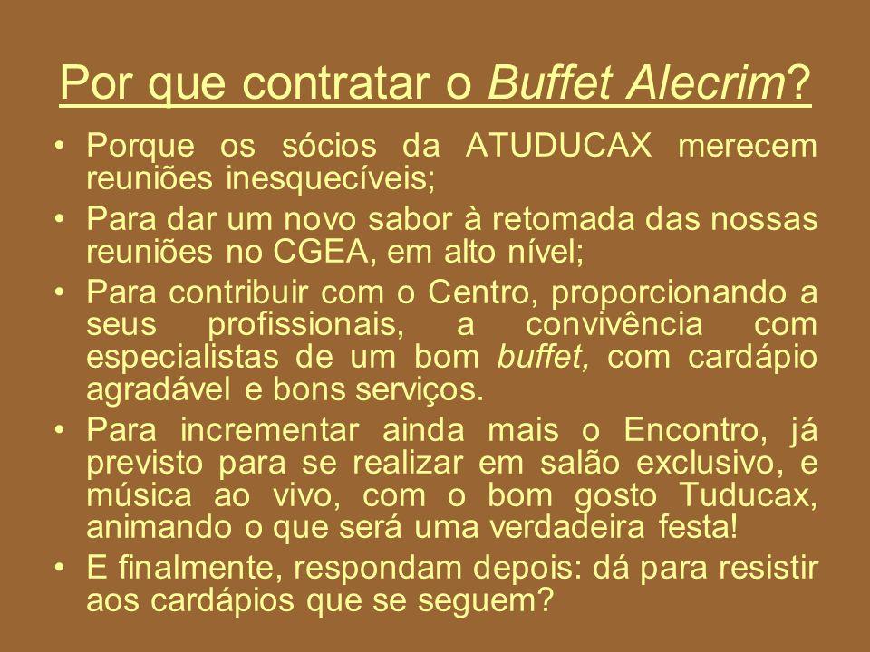 Por que contratar o Buffet Alecrim