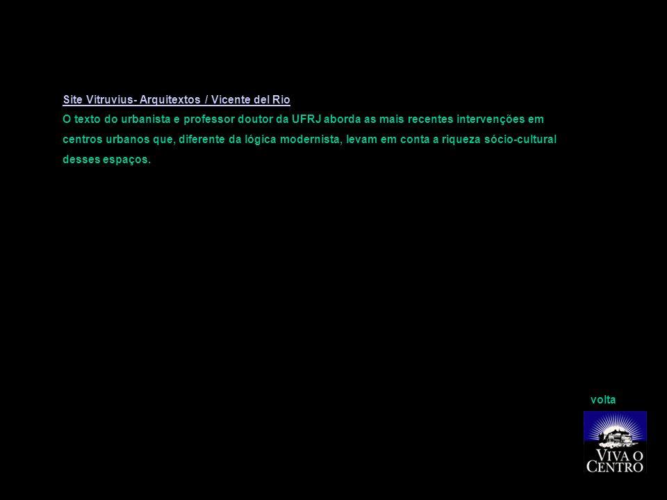 Site Vitruvius- Arquitextos / Vicente del Rio