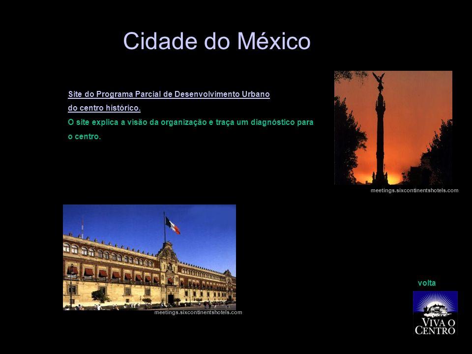 Cidade do México Site do Programa Parcial de Desenvolvimento Urbano