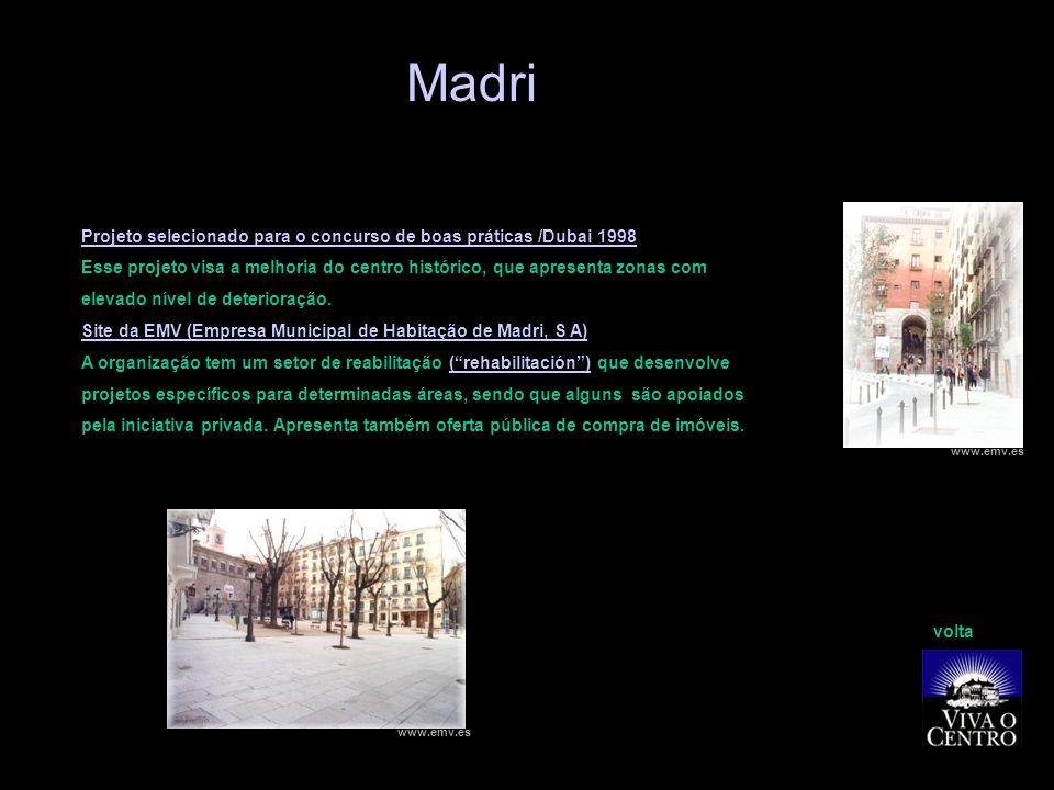 Madri Projeto selecionado para o concurso de boas práticas /Dubai 1998