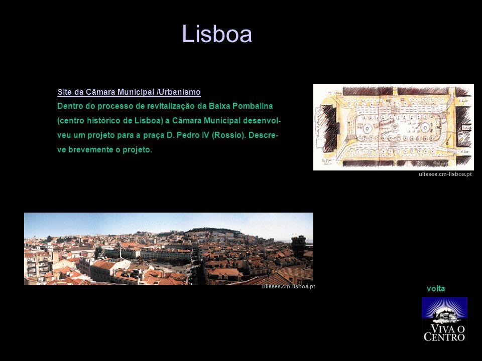 Lisboa Site da Câmara Municipal /Urbanismo