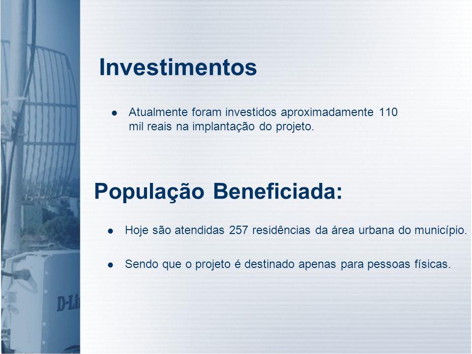Investimentos População Beneficiada: