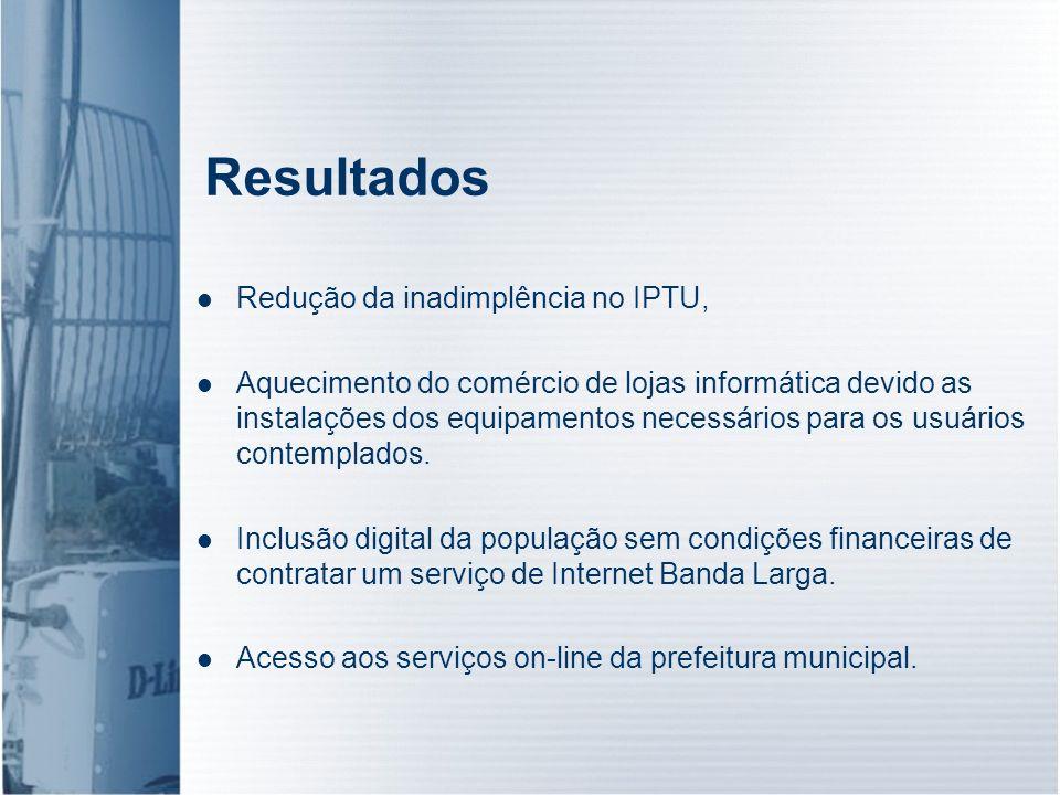 Resultados Redução da inadimplência no IPTU,