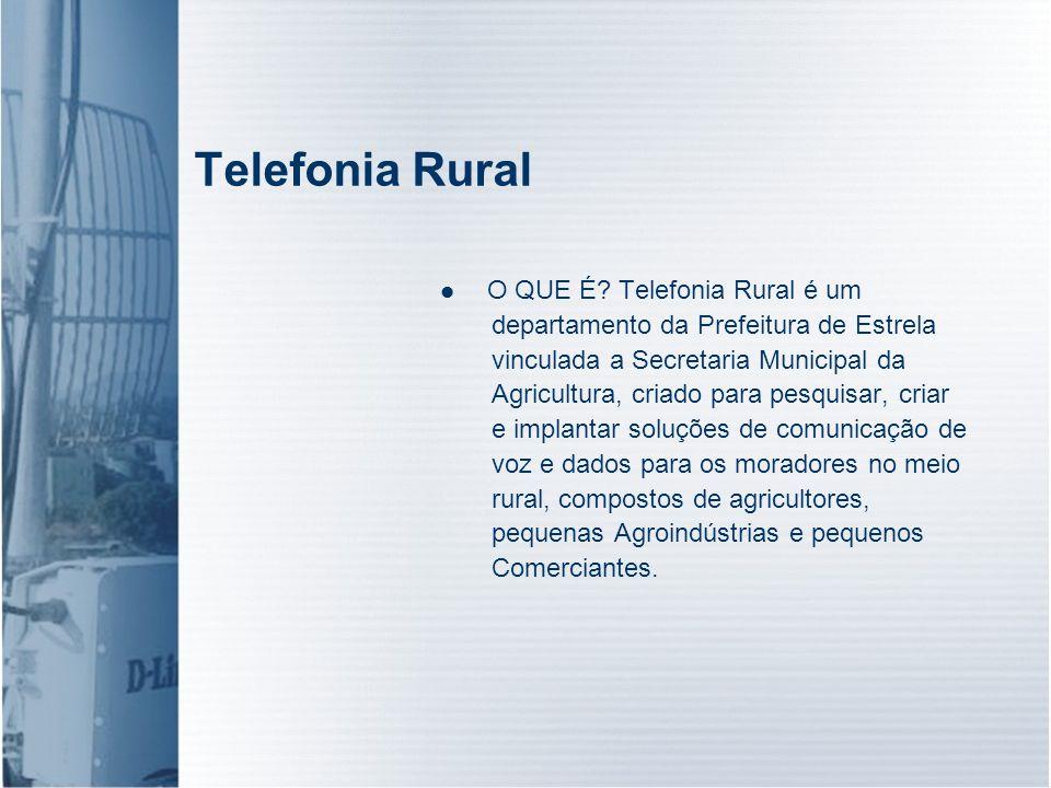 Telefonia Rural O QUE É Telefonia Rural é um
