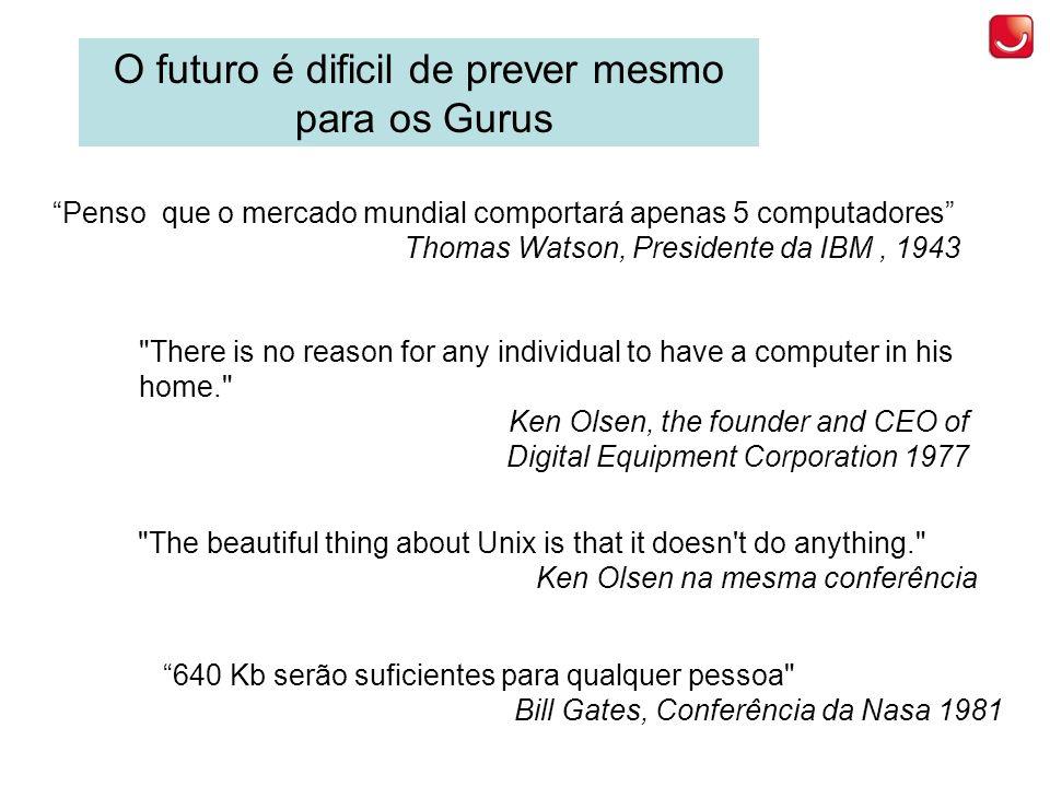 O futuro é dificil de prever mesmo