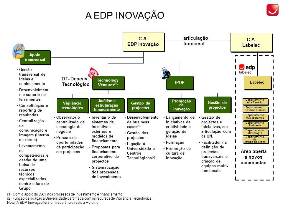 FILEIRAS DE ACTUAÇÃO DA EDPi