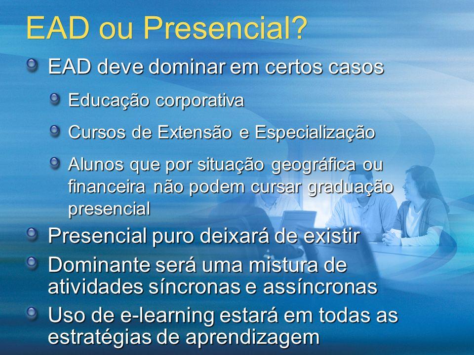 EAD ou Presencial EAD deve dominar em certos casos