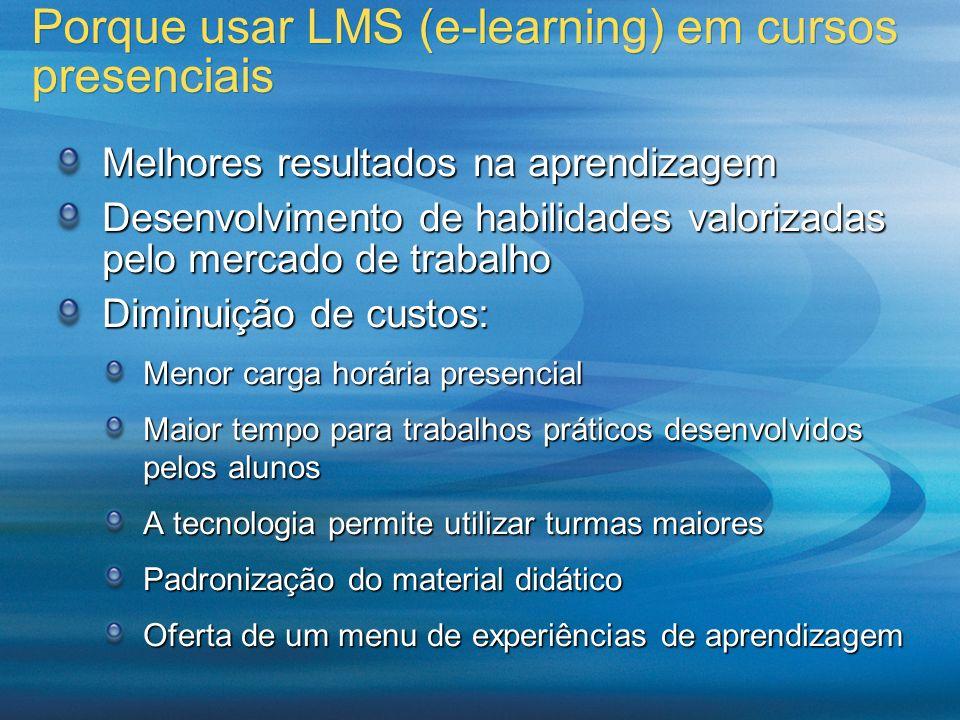 Porque usar LMS (e-learning) em cursos presenciais
