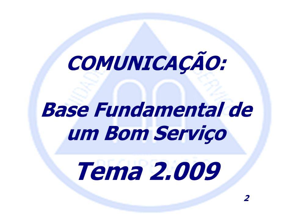Base Fundamental de um Bom Serviço