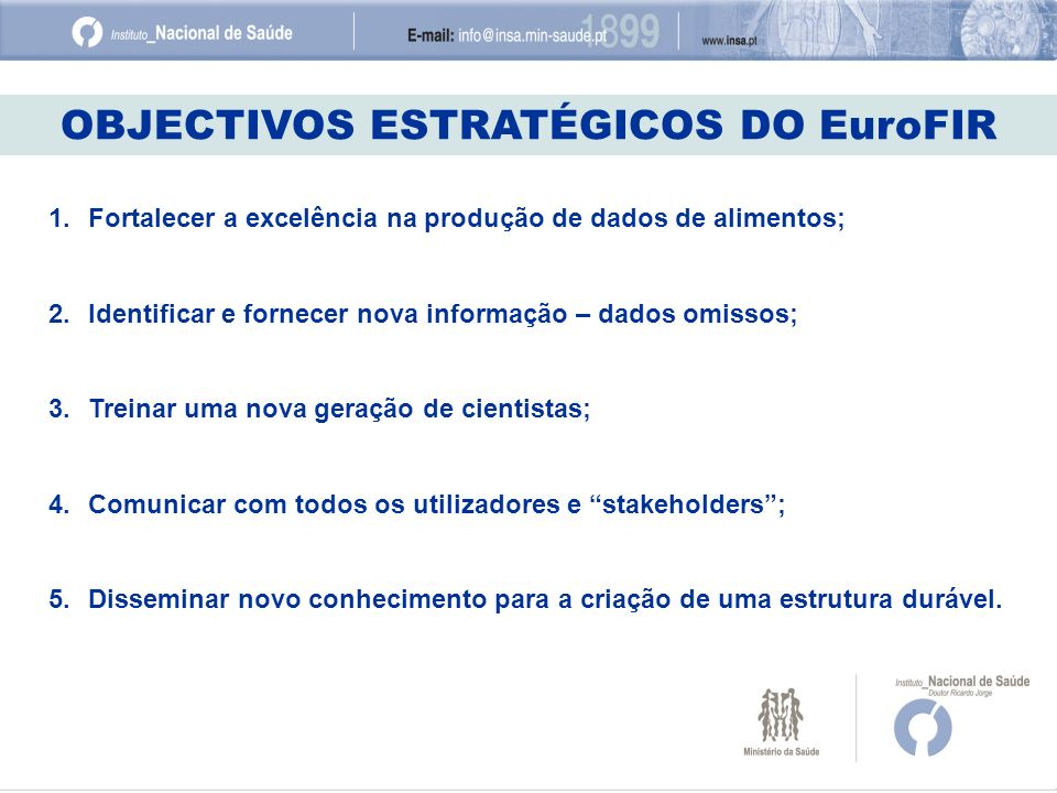 OBJECTIVOS ESTRATÉGICOS DO EuroFIR