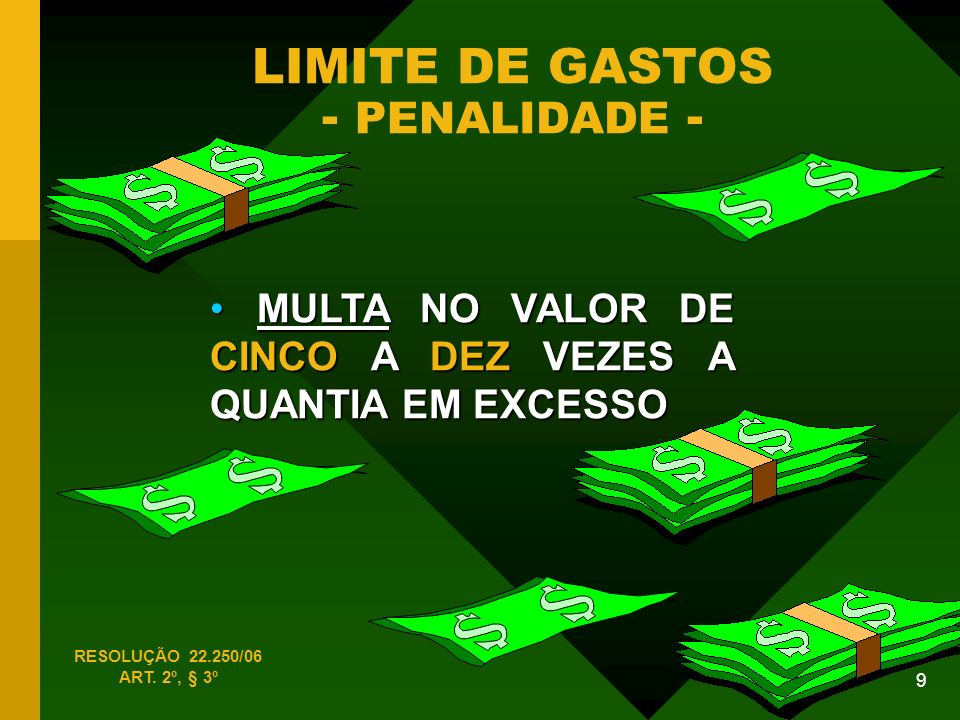 LIMITE DE GASTOS - PENALIDADE -
