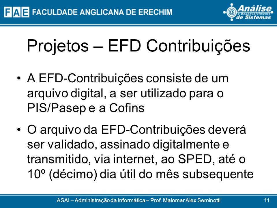 Projetos – EFD Contribuições
