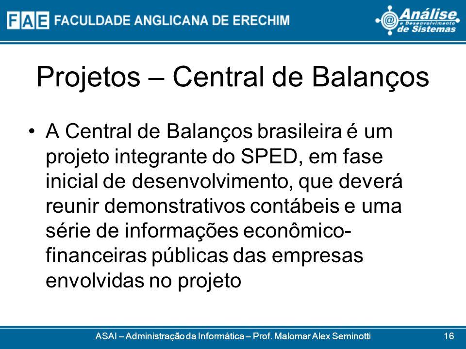 Projetos – Central de Balanços