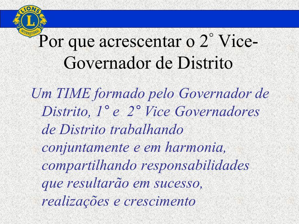Por que acrescentar o 2° Vice-Governador de Distrito