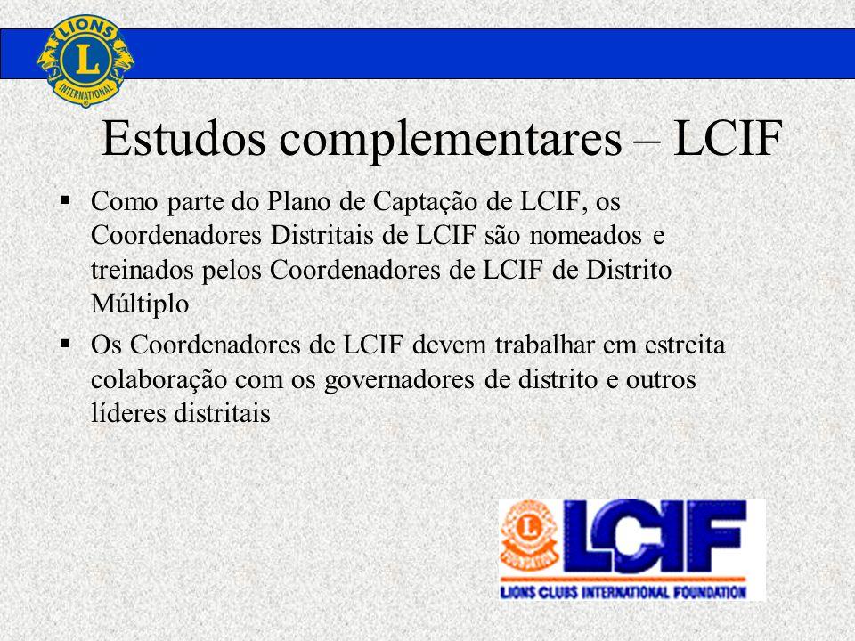 Estudos complementares – LCIF